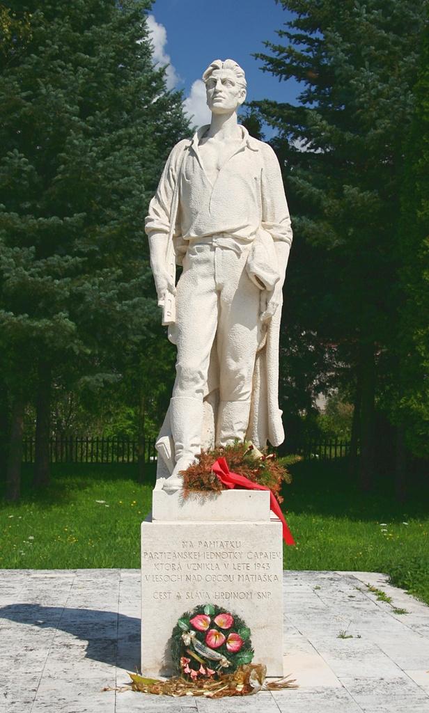 Pomník brigády Čapajev - Matiaška